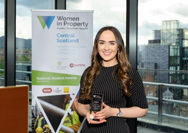 Central Scotland Student Award goes to Jessica McGinniss
